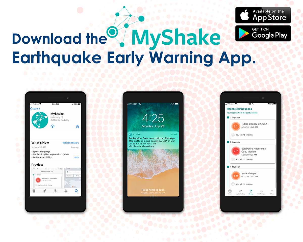 Download the MyShake Earthquake Early Warning App