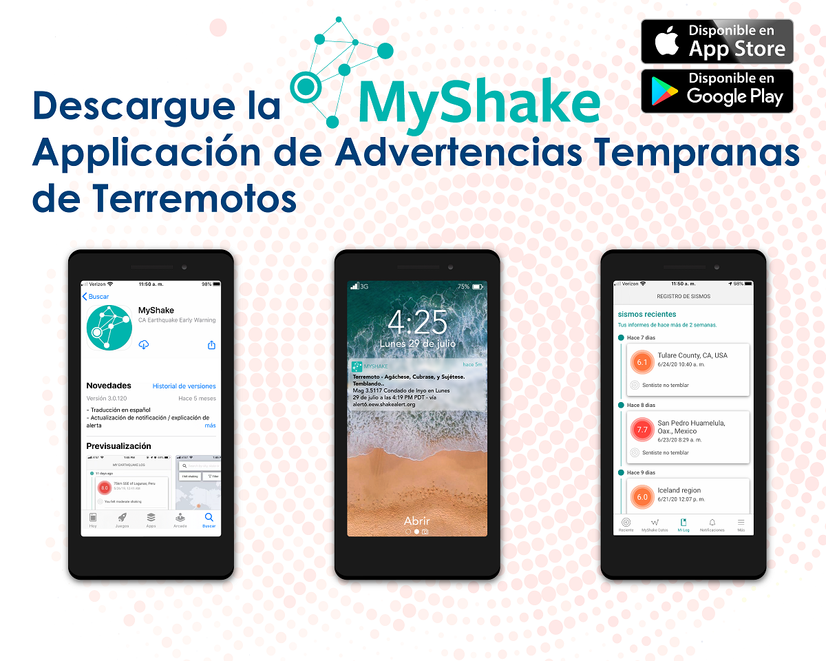 Descargue la Application de Advertencias Tempranas de Terremotos
